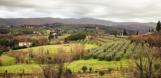 Arezzo Hills View From San Donato Belvedere Stock Photography