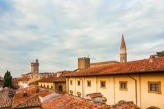 Arezzo historic center skyline stock photo