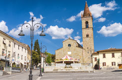 AREZZO, ITALY - MAY 2015: City Square with tourists. Arezzo is a Stock Images