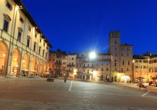 Arezzo at night Royalty Free Stock Image