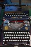 Vintage antique black typewriter Stock Photography