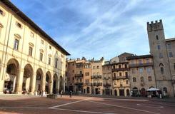 Arezzo Piazza Grande Stock Images