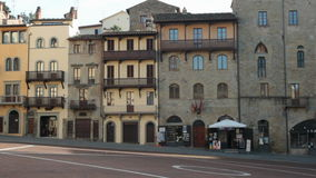 Arezzo Piazza Grande. Piazza Grande is the old medieval town square in Arezzo, tuscany, Italy stock video footage