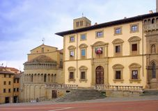 Arezzo Piazza Grande Royalty Free Stock Photo