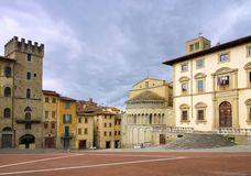 Arezzo Piazza Grande Royalty Free Stock Photos