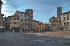 Arezzo Piazza Grande Royalty Free Stock Photography