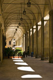 Arezzo - Porches to Piazza Grande Royalty Free Stock Image