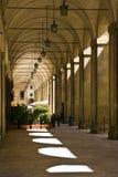 Arezzo - Porches to Piazza Grande Royalty Free Stock Image