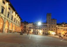 Arezzo przy nocą Obraz Royalty Free