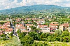 Arezzo Stadtvogelperspektive - Italien lizenzfreies stockbild