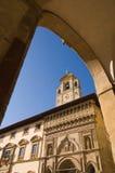 Arezzo Toscana, plaza grande Foto de archivo libre de regalías
