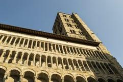 AREZZO. Tower and facade of Santa Maria della Pieve Royalty Free Stock Image