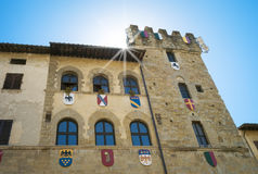 Arezzo (Tuscany Italy), old palace facade. Color image royalty free stock photography