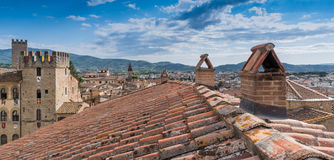 Arezzo view from the bell Royalty Free Stock Photography