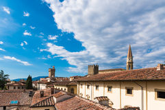 Arezzo view from the bell Royalty Free Stock Photos