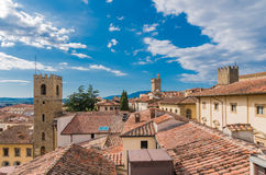 Arezzo view from Royalty Free Stock Photo