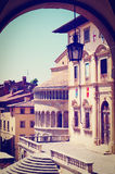 Arezzo. View of the Historic Center of Arezzo, Instagram Effect Royalty Free Stock Image