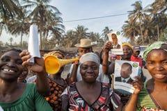 Arfican folkmassa under den val- aktionen Royaltyfri Foto