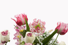 Arficial Flower Arrangement. With White space on top royalty free stock photo