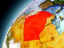 Argélia da órbita de Earth modelo ilustração royalty free