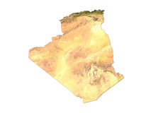 Argélia no fundo branco Imagens de Stock Royalty Free