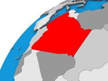 Argélia no globo 3D ilustração stock
