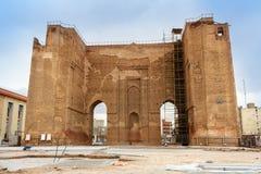 Arg Alishah i Tabriz Östligt Azerbajdzjan landskap iran royaltyfria foton