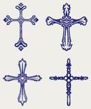Arg designsamling för klosterbroder vektor illustrationer