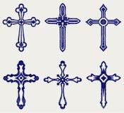 Arg designsamling för klosterbroder stock illustrationer