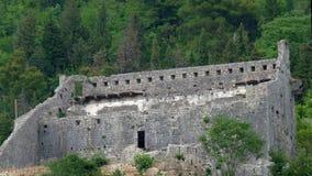 Arg fästning för helgedom, Perast, Montenegro Royaltyfri Fotografi