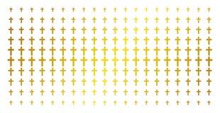Arg guld- rastrerad modell för klosterbroder stock illustrationer