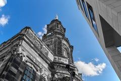 Arg kyrka i Dresden abstrakt begrepp Fotografering för Bildbyråer