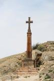 Arg near forntida kloster Khor Virap för kristen arkivfoton