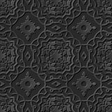 Arg ram för sömlös elegant för papperskonst för mörker 3D kurva för modell 236 Fotografering för Bildbyråer