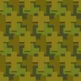 Arg sömlös modell för militär Abstrakt religiös textur för armé Royaltyfria Bilder