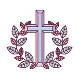 Arg symbol för klosterbroder royaltyfri illustrationer