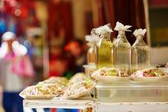 Argan πετρέλαιο στη μαροκινή αγορά Στοκ εικόνες με δικαίωμα ελεύθερης χρήσης