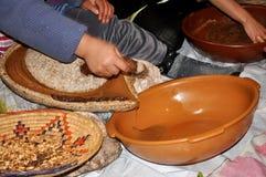 Argan oil Fabrication. In Morocco Stock Photos
