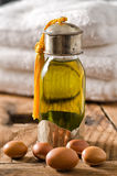 Argan oil and fruits Royalty Free Stock Images
