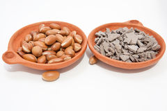 Argan Oil and  klay mineral Stock Image