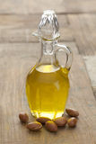 Argan oil and nuts Stock Photos
