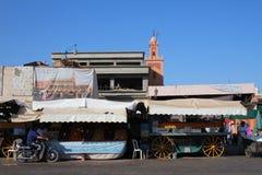 Argana Cafe on Jemaa el fna square Stock Image