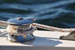 Argano della barca a vela Fotografie Stock Libere da Diritti