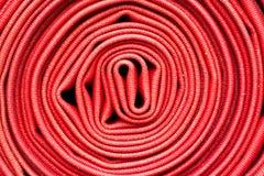 Argano rosso della manichetta antincendio Fotografia Stock Libera da Diritti