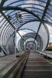 Arganzuela footbridge w Madryt Rio parku pionowo Obraz Royalty Free