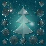 argb背景圣诞节defocused玻璃点燃结构树 免版税库存图片