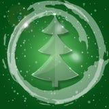 argb背景圣诞节defocused玻璃点燃结构树 免版税库存照片