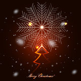 argb背景圣诞节defocused玻璃点燃结构树 免版税图库摄影