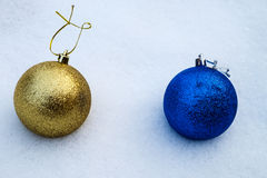 argb background balls blue christmas lights snow Στοκ Εικόνες
