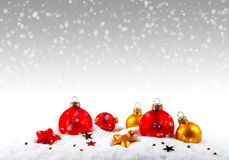 argb background balls blue christmas lights snow Στοκ εικόνα με δικαίωμα ελεύθερης χρήσης
